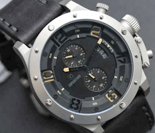 JAM TANGAN ORIGINAL Expedition chronograph original (E6381), black