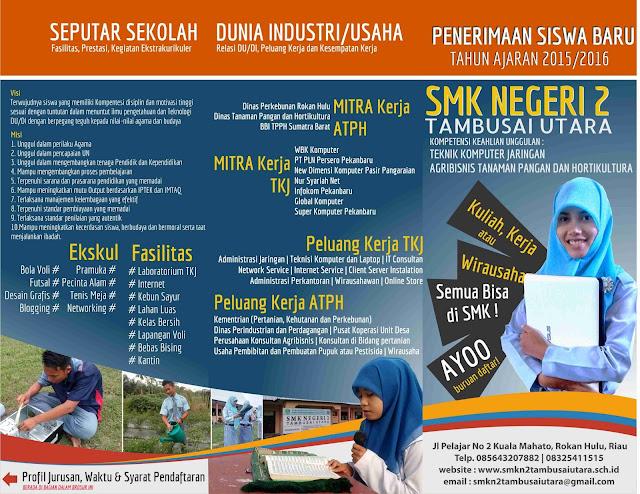 Brosur PPDB SMK N 2 Tambusai Utara 2