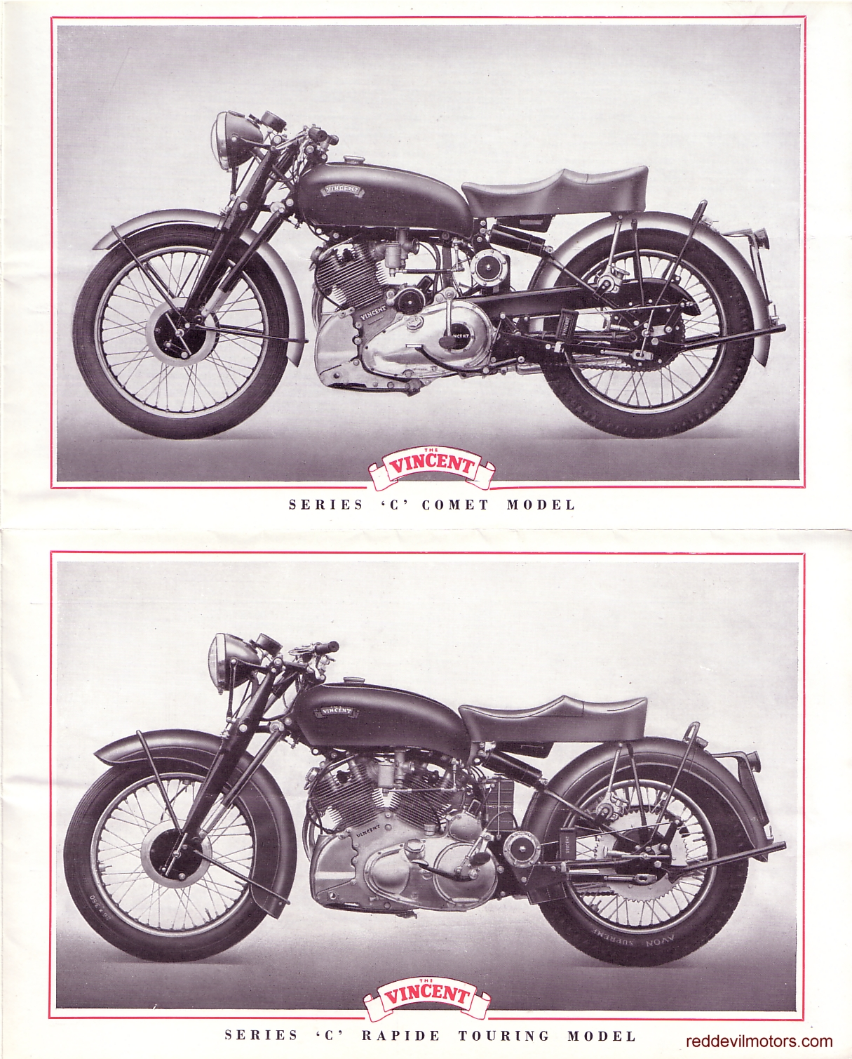 Vincent motorcycles 1952 brochure page 3