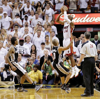 Ray Allen Finals buzzer beater, Ray Allen Finals shot, Ray Allen Finals Game 6 shot