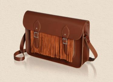 suede fringed satchel