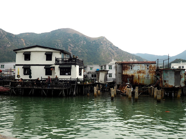 Stilt houses on the water in Tai O fishing village, Lantau Island, Hong Kong
