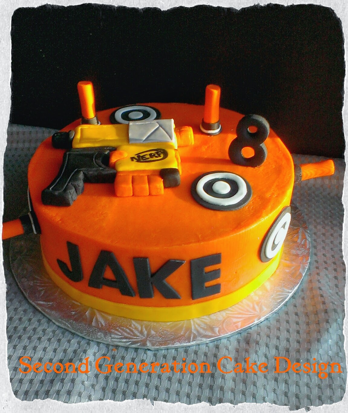 Second Generation Cake Design Nerf Gun Birthday Cake