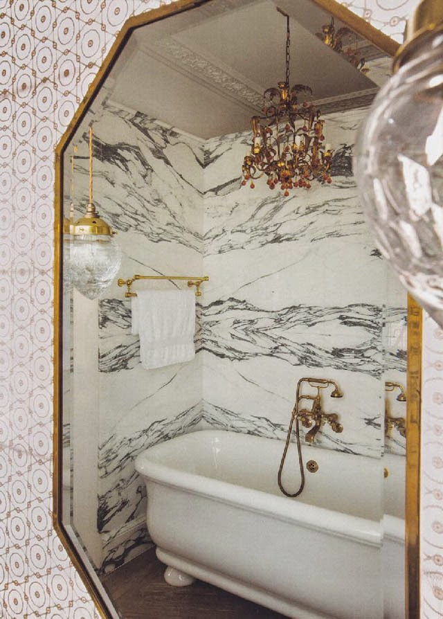 Bathroom design as featured in May's issue of World of Interiors, designed by madduxcreative.
