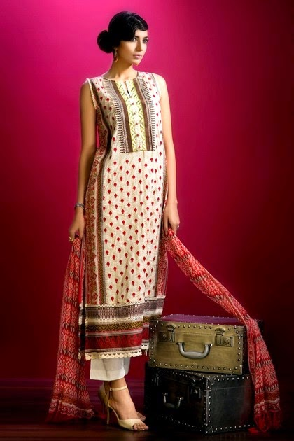 New Arrivals of Khaadi Lawn Summer Collection 2014-2015