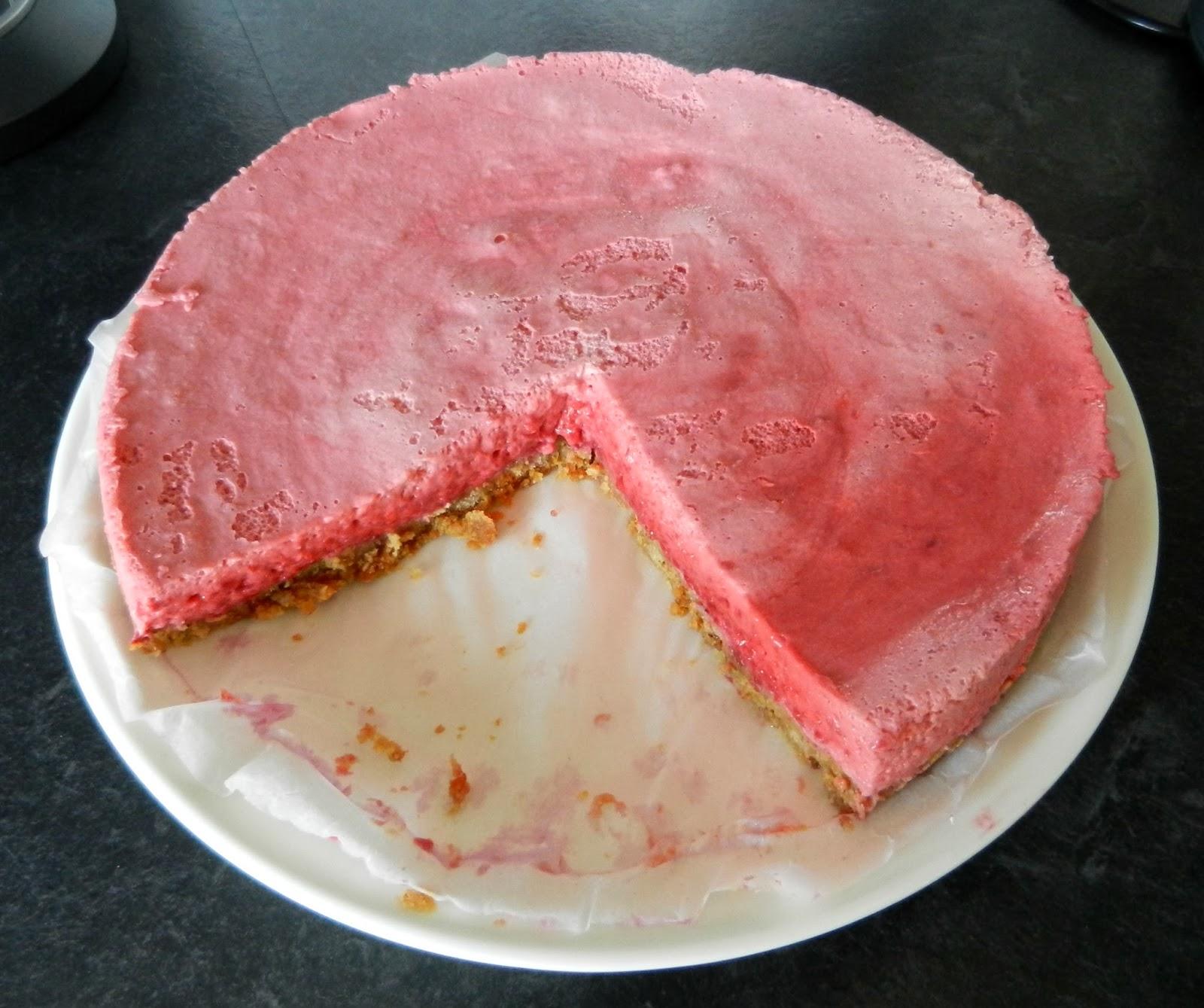 hallonfluff till tårta