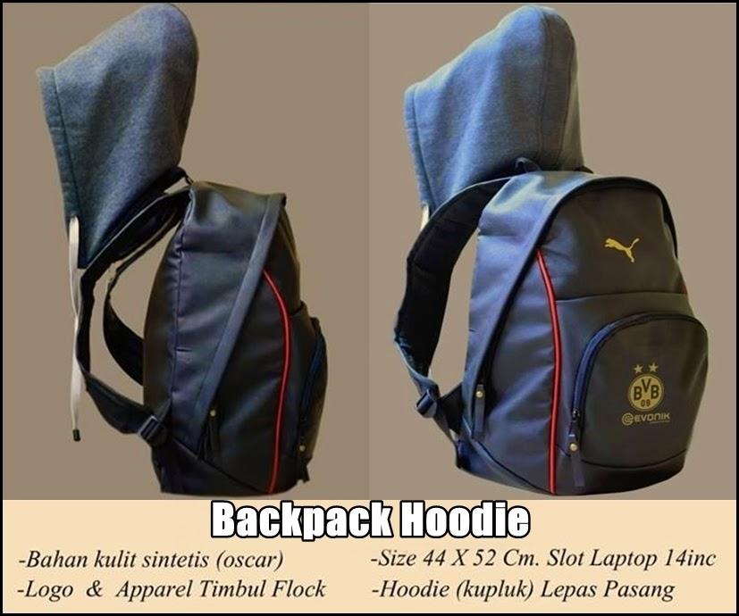 Tas Backpack Hoodie Bahan Kulit Dortmund