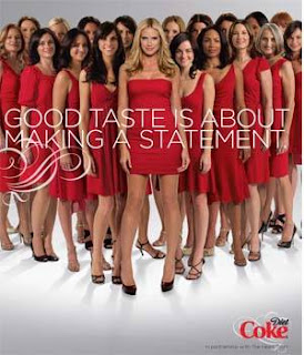 Heidi Klum Red Dress Diet Coke The Heart Truth