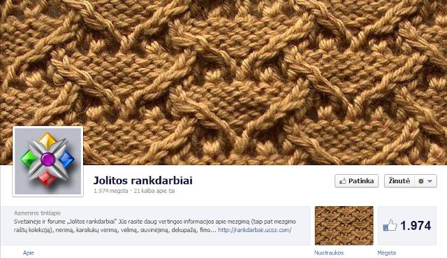 Jolitos rankdarbių Facebook'o profilis