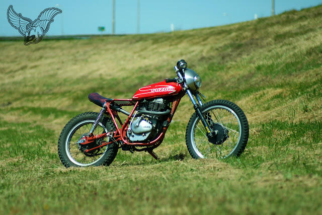 1978 suzuki sp370 cafe racer | shed built bikes