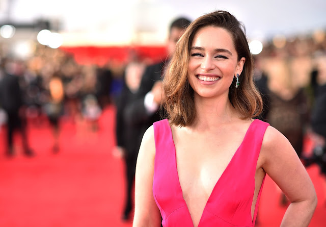 Actress, @ Emilia Clarke - 22nd Annual Screen Actors Guild Awards at Shrine Auditorium in LA