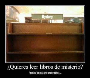 SI TE GUSTAN LOS LIBROS DE MISTERIO, PRIMERO TIENES QUE ENCONTRARLOS...