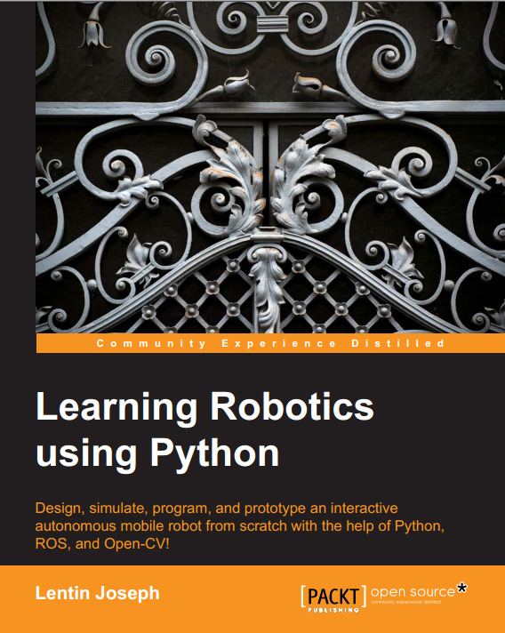 My new book : Learning Robotics using Python