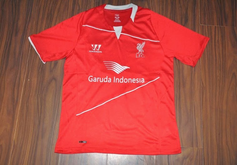 Jersey GO-PI Liverpool Training Red Garuda Indonesia 2014-2015