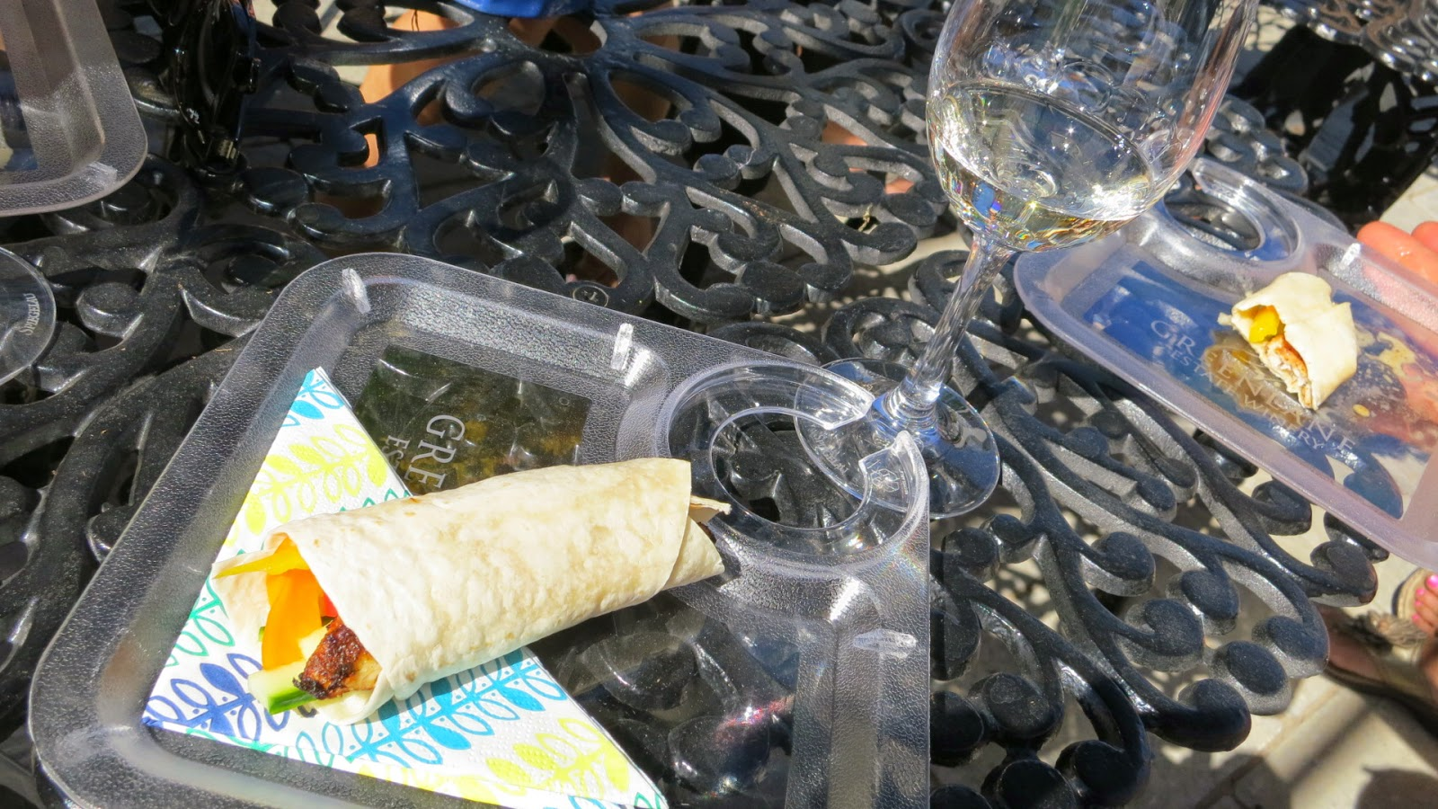 Lake Erie Perch tacos paired with 2013 GreenLane Winemaker's White