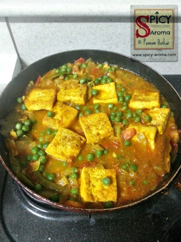 Tofu Matar Masala Tofu and Green Peas Curry Spicy-Aroma