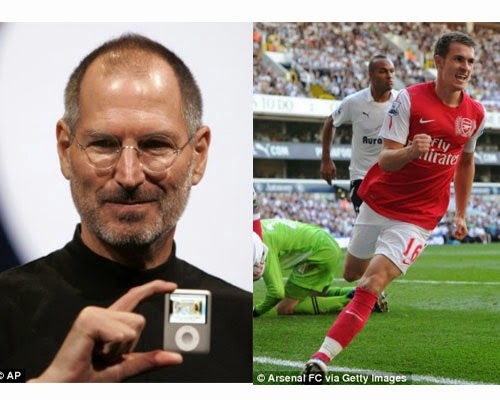 ramsey score someone famous dies, ramsey, steve jobs, arsenal