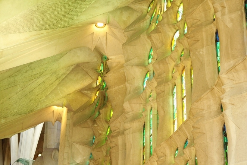 Sagrada Familia Barcelona Green Colours