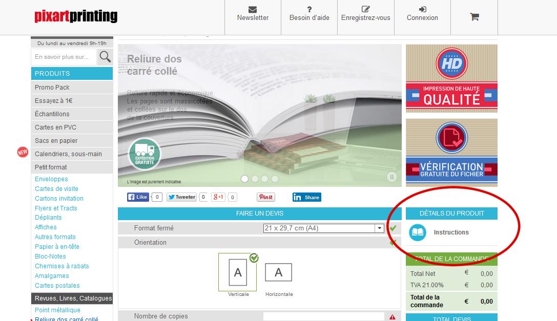 2 Cliquez Sur Instructions Pour Telecharger Le PDf Qui Vous Expliquera Comment Disposer Votre Pdf Et Quels Fichiers Il Faut Rendre