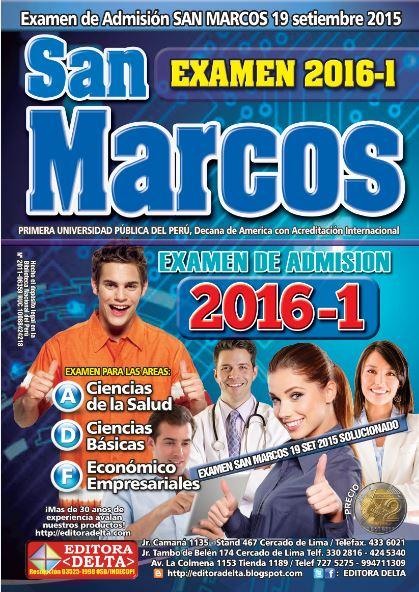 Examen San Marcos 2016-1