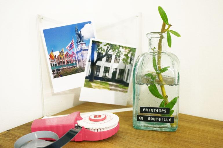 DIY étiqueteuse : bouteille décorative, vase