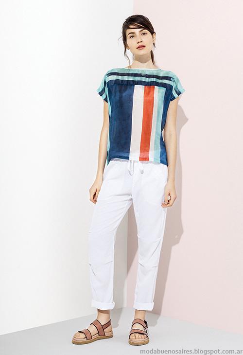 Blusas de moda 2016 Graciela Naum primavera verano 2016. Moda 2016.