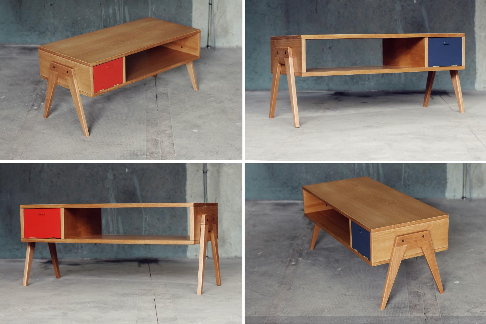 De derri re les fagots la table basse ou le meuble t l - Meuble suedois design ...