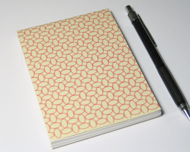 the finished handmade notepad - tutorial