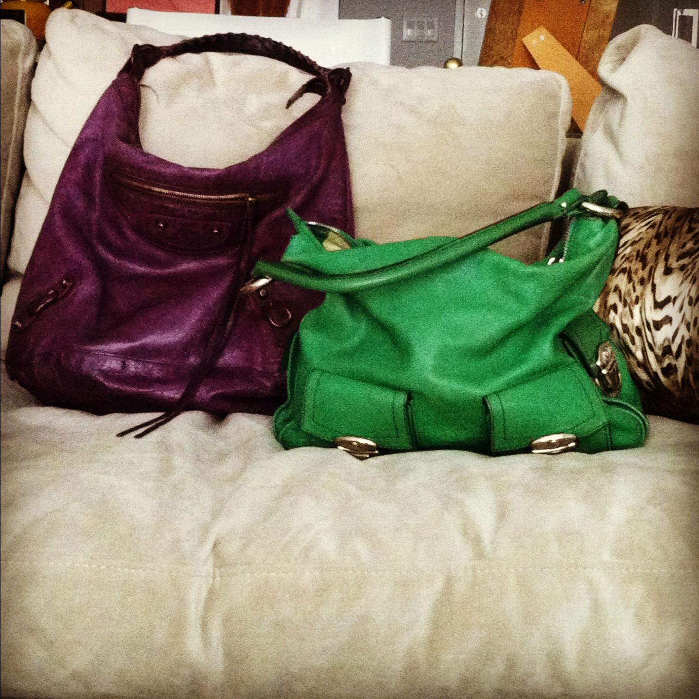... Balenciaga Day Bag or a Marc Jacobs hobo bag I bought 7 years ago.