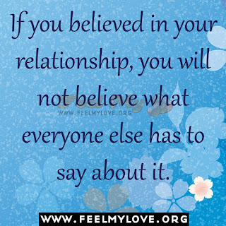 If you believed in your relationship