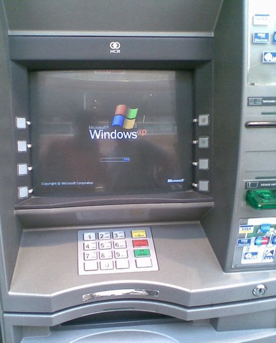 An ATM running Windows XP