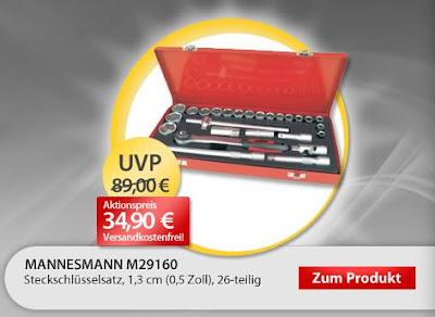 Mannesmann Steckschlüsselsatz M29160 als OHA für 34,90 Euro inklusive Versand