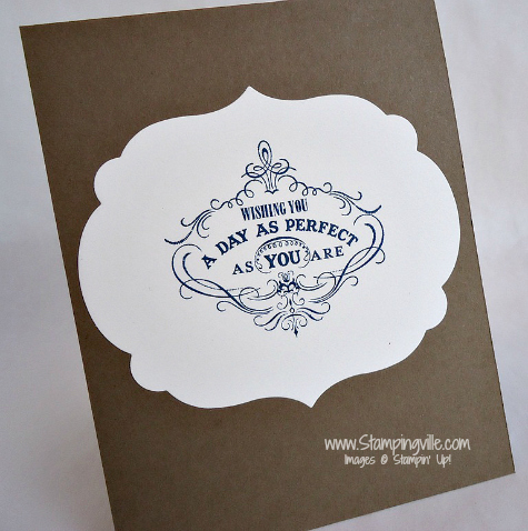Stampin' Up! Vintage Verses Stamp Set Inside Card