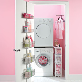 The Container Store Platinum Elfa Laundry Door Wall Rack Contemporary ...