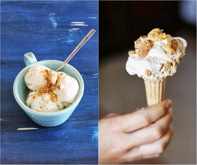 ricetta per gelato col tè verde al gelsomino e mandorle pralinate