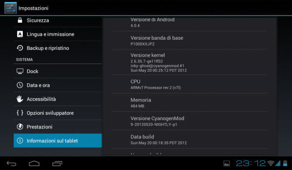 android jelly bean for galaxy tab p1000