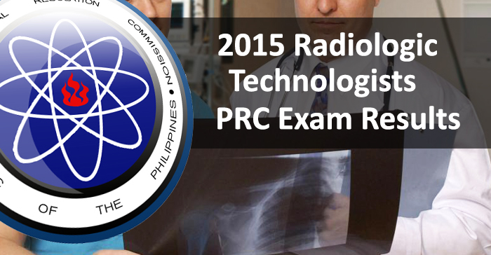 July 2015 Radiologic Technologists PRC Board Examination Result