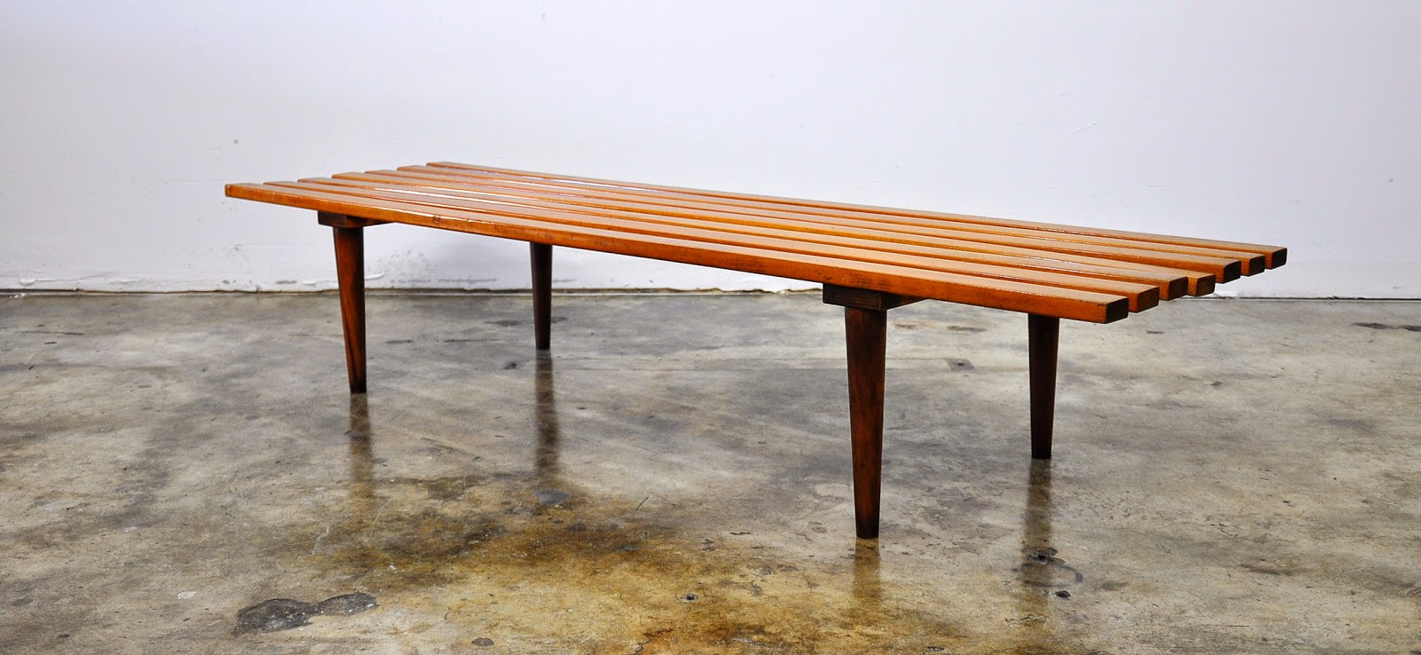 Select Modern Mid Century Modern Slat Bench Or Coffee Table