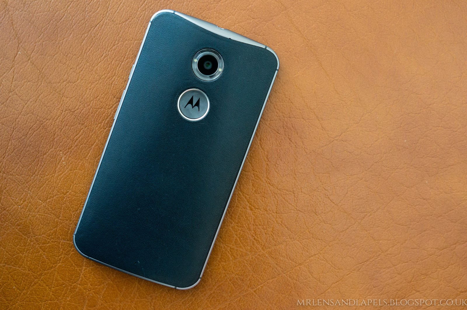 Motorola Moto X 2014 horween leather back navy