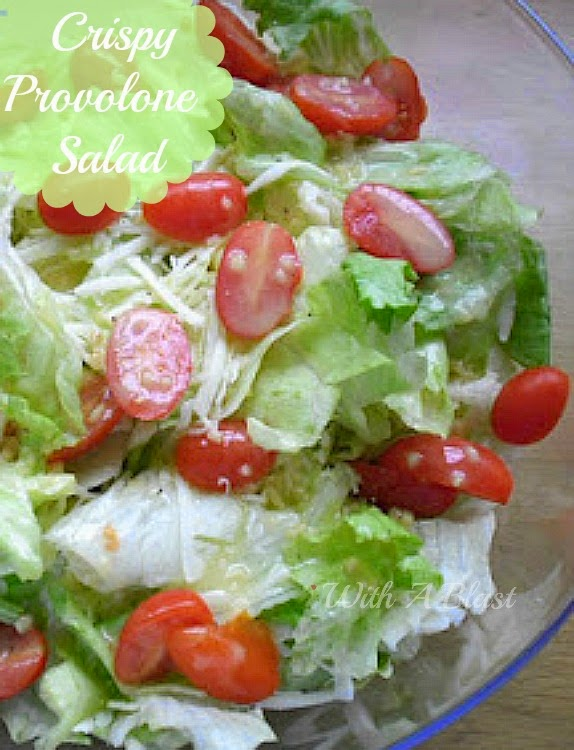 Crispy Provolone Salad ~ Delicious, quick last minute salad #Salad #QuickAndEasyRecipe