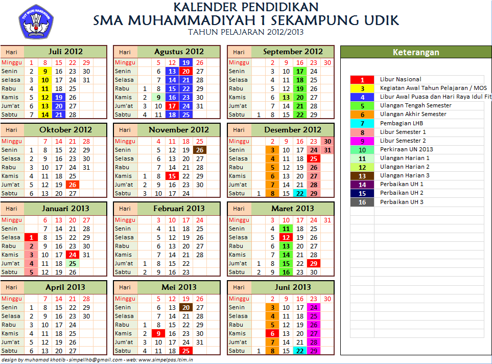 kalender kalender pendidikan th 2013 xlsx kalender jul of 2014