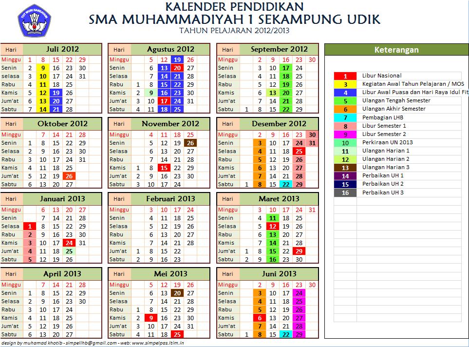 bagi yang berminta silahkah download Kalender Akademik 2012/2013 .