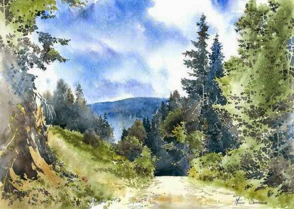 watercolour of Michal Suffczynski