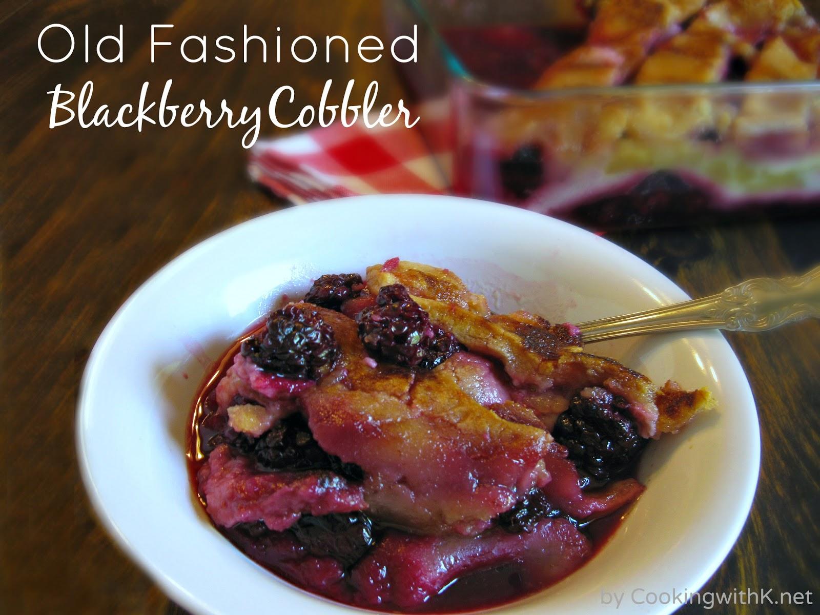 Old Fashioned Blackberry Cobbler