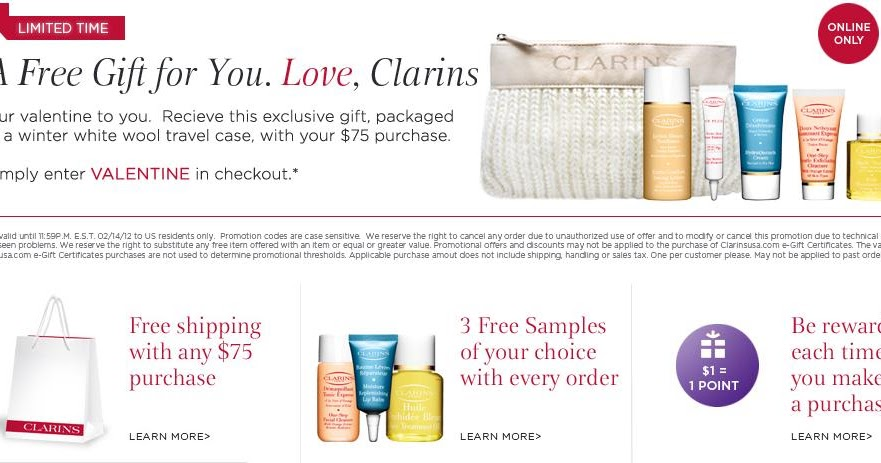 Clarins coupon code