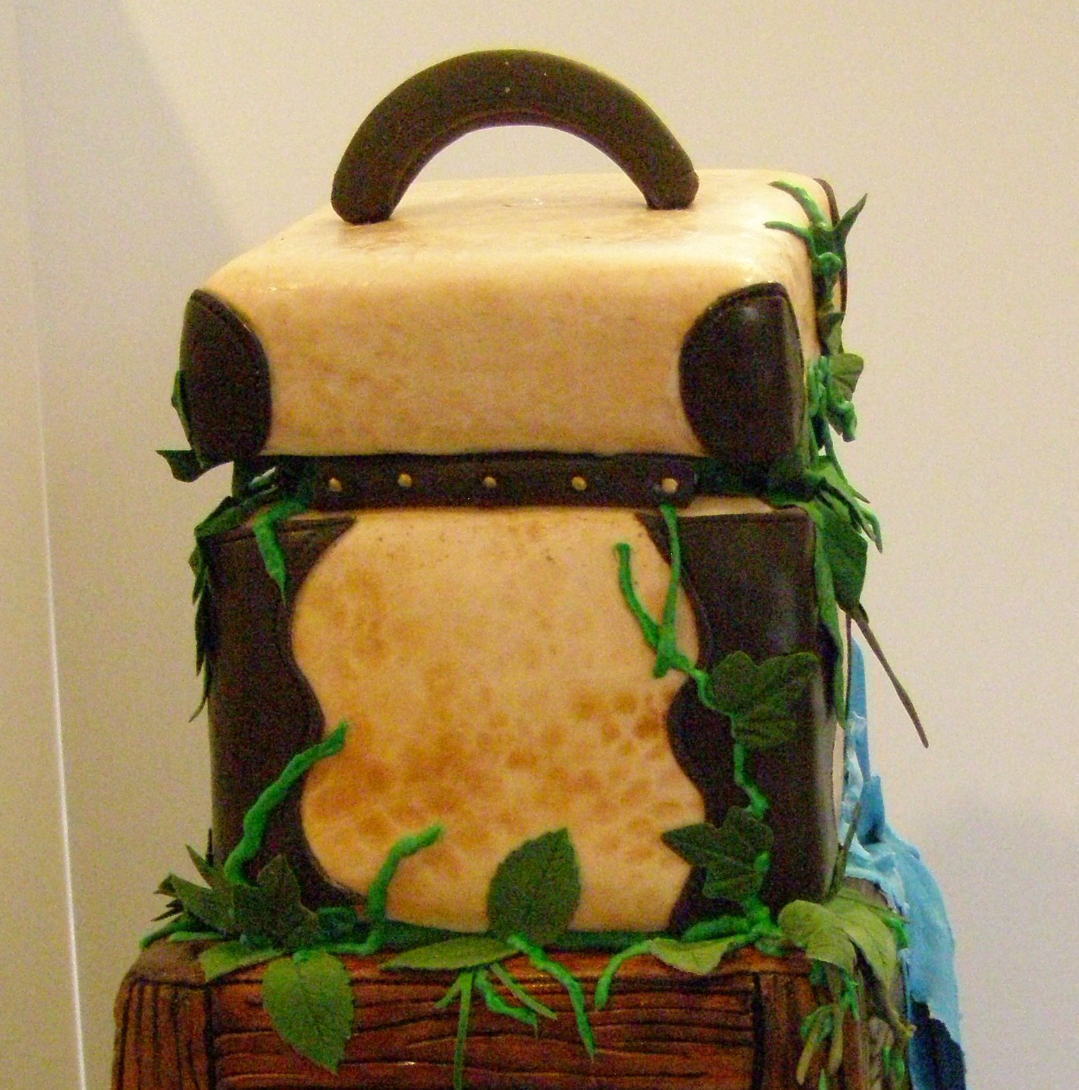 How To Make A Treasure Chest Cake With Open Lid