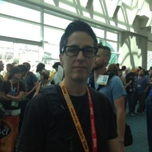 A autora de quadrinhos Alyson Bechdel após painel na San Diego Comic-Con (Foto: Estefani Medeiros)