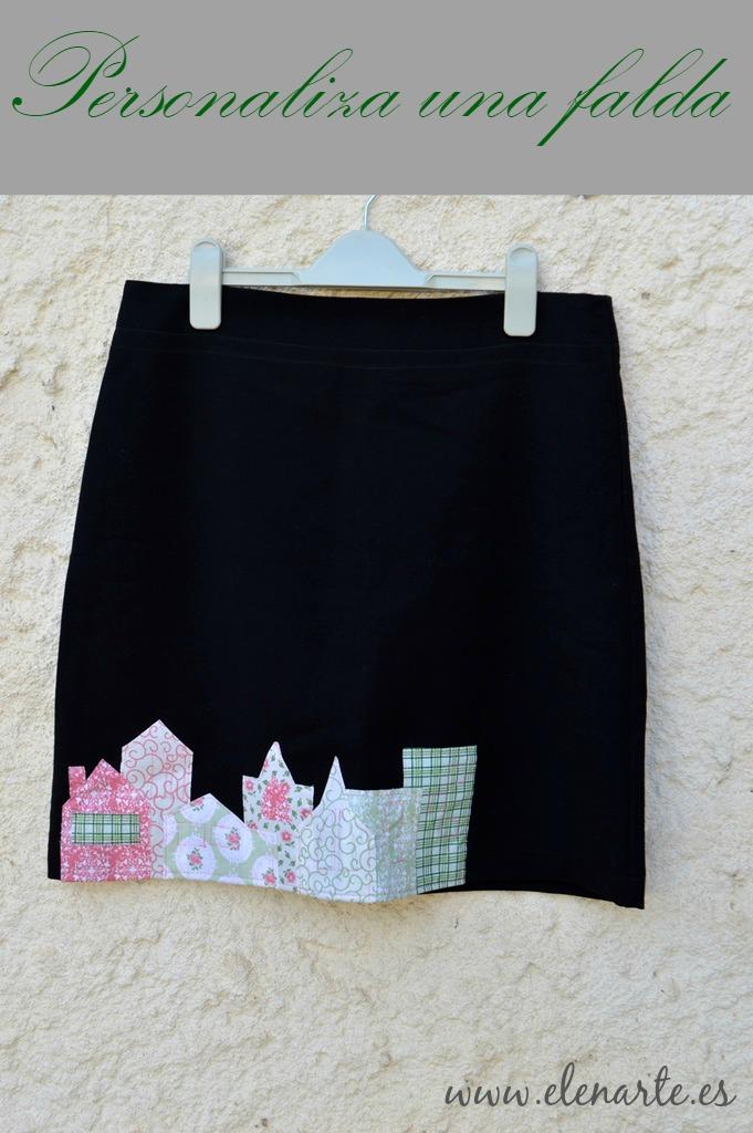 Personalizar una falda con aplicaciones