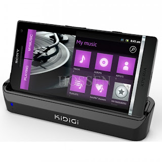 KIDIGI USB Desktop Cradle AC Power Adapter Charing Sync Dock for Sony Xperia S