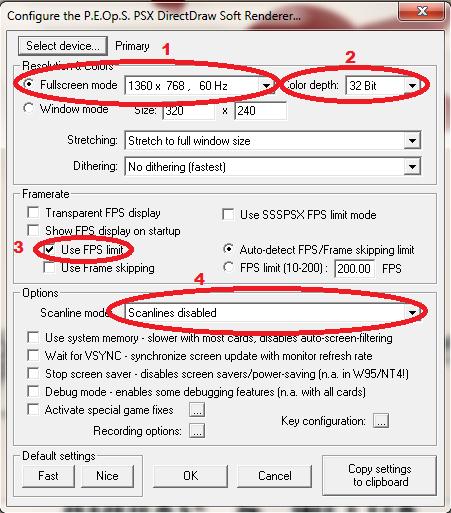 ePSXe Emulator 1.8.0 - Config Video